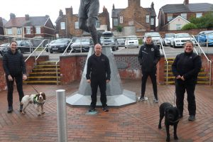 Detection Dog Training at Port Vale FC